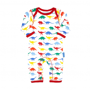 Multi Dino Sleepsuit - Organic Cotton