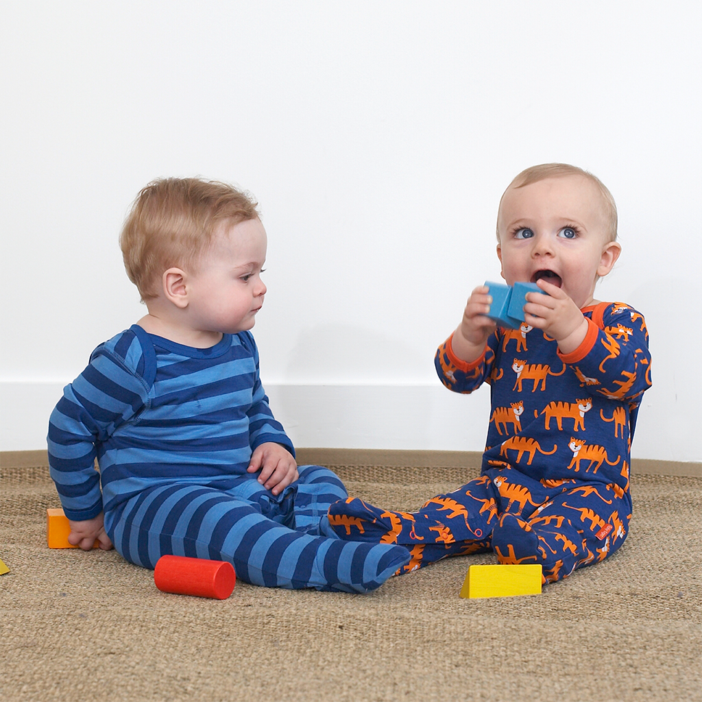 Tiger Babygrows 2 Pack - Organic Cotton