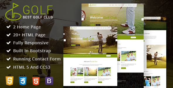 Golf Club Membership Website